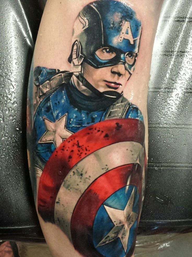 34 Best Captain America Arm Tattoo Images On Pinterest Ideas And Designs