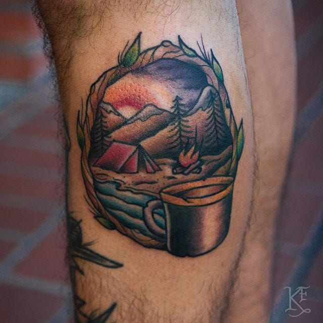 Best 25 Camping Tattoo Ideas On Pinterest Mini Drawings Ideas And Designs