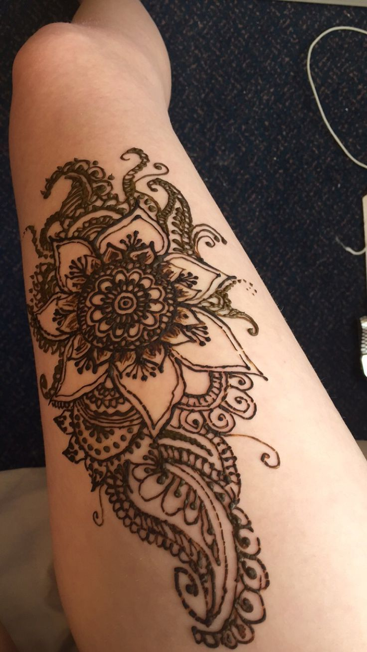 I Like This Leg Henna For Summer Time Awesome Skin Ideas And Designs