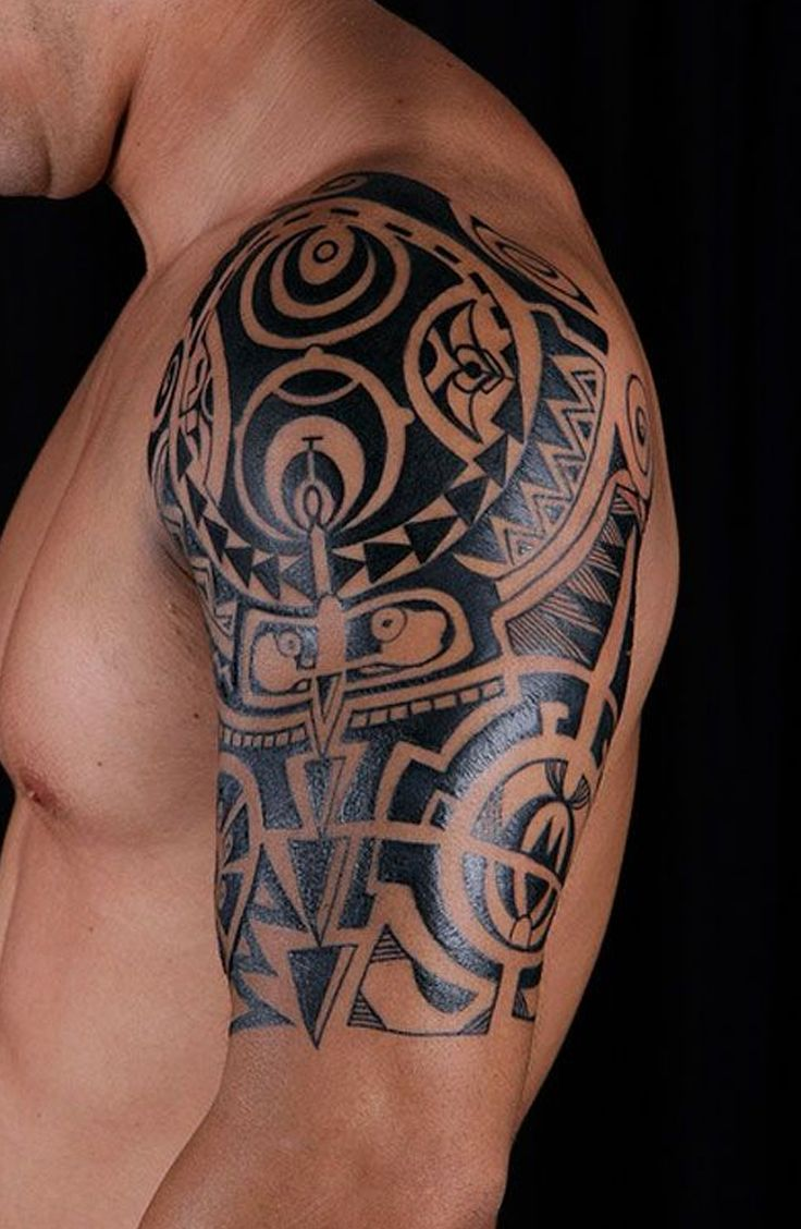 Best 25 Tribal Shoulder Tattoos Ideas On Pinterest Ideas And Designs