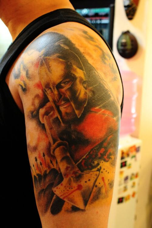 32 Best 300 Spartan Tattoos Images On Pinterest Design Ideas And Designs