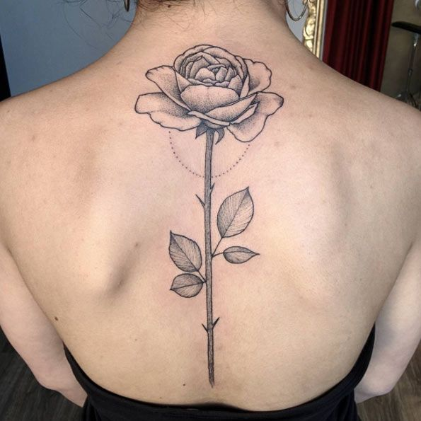 40 Blackwork Rose Tattoos You Ll Instantly Love Ideas And Designs