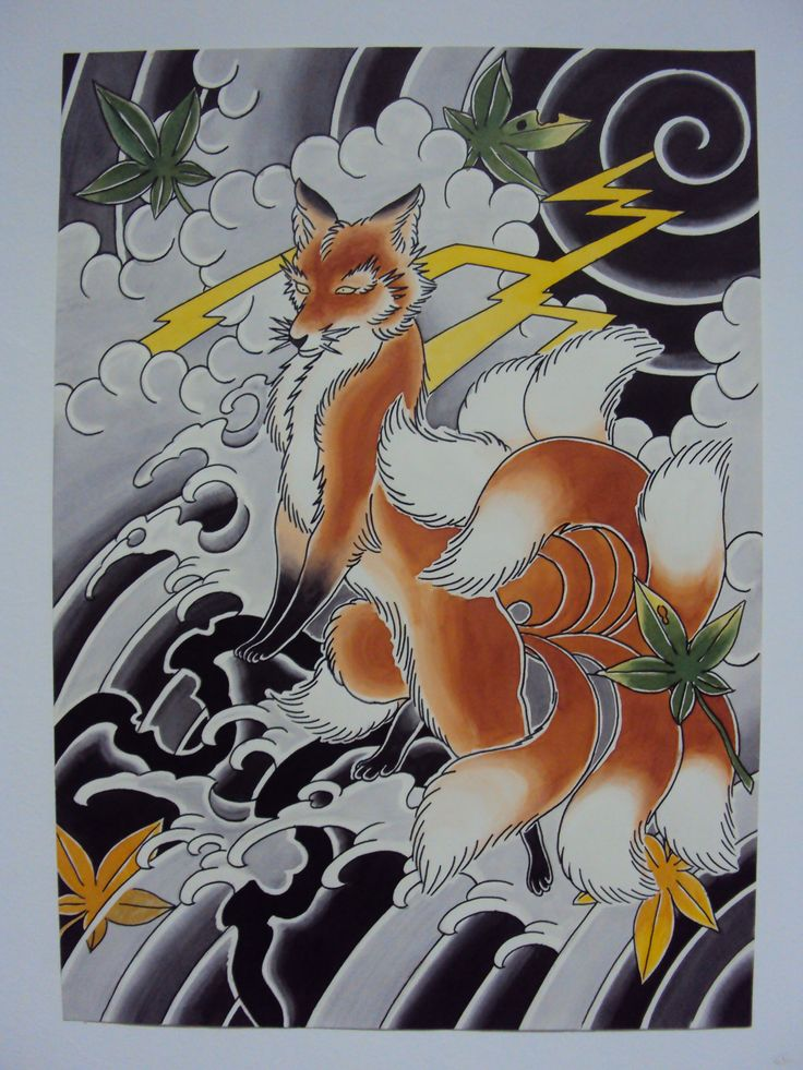 Japanese Fox Tattoo Nine Tailed Fox Deneka Custom Tattoo Ideas And Designs