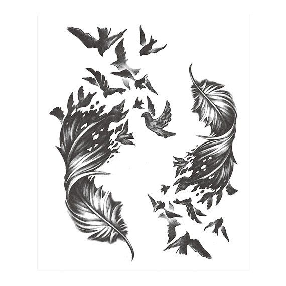 Best 25 Feather With Birds Tattoo Ideas On Pinterest Ideas And Designs