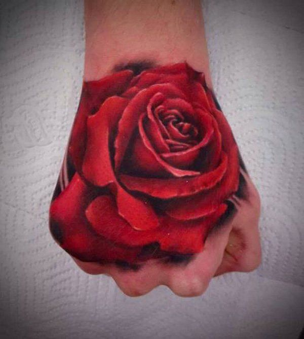 60 Eye Catching Tattoos On Hand Tattoos Rose Hand Ideas And Designs