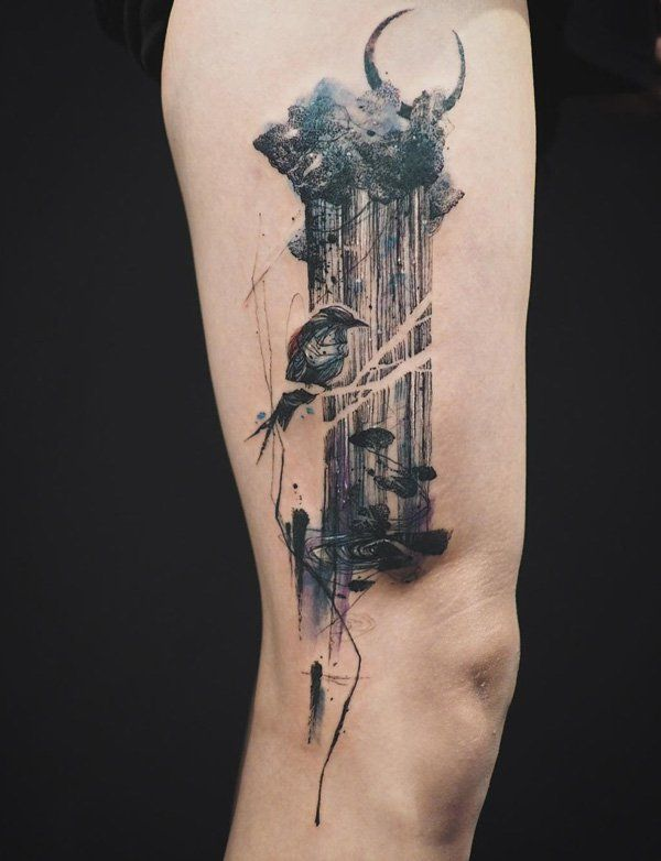 310 Best Thigh Tattoos Images On Pinterest Tattoo Ideas Ideas And Designs