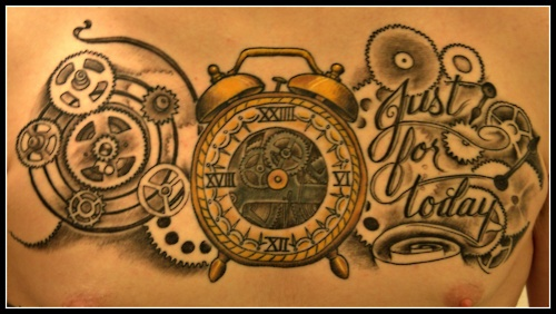 """This Is My 24 Hour Clock With Cogs Gears And """"Just For Ideas And Designs"""