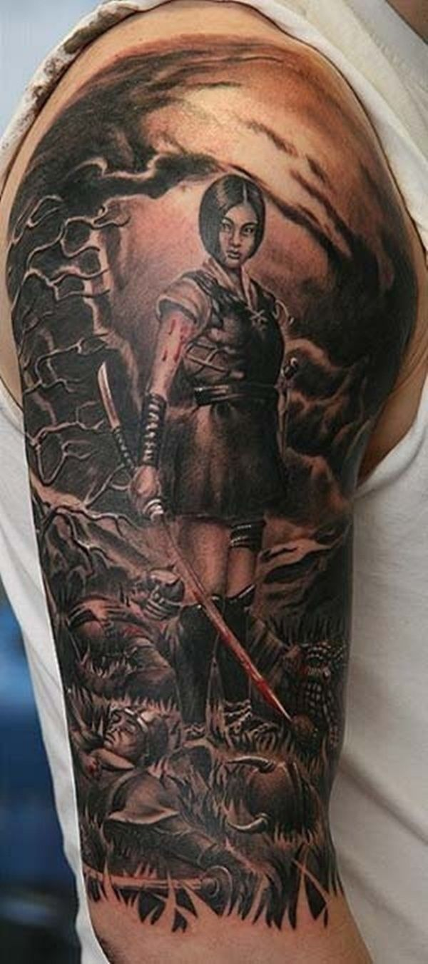 30 Fighting Warrior Tattoos Sleeve Tattoos Warrior Ideas And Designs