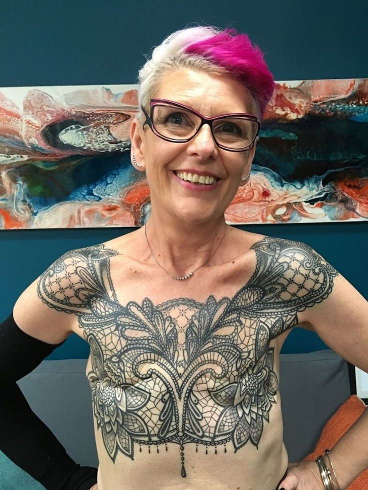 Woman Gets Badass Chest Tattoo After A Life Saving Ideas And Designs