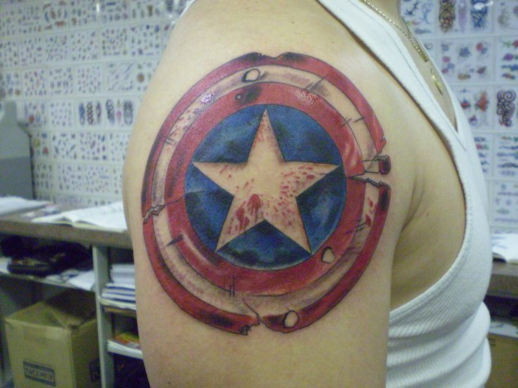 15 Best ★ Captain America Tattoos ★ Images On Pinterest Ideas And Designs