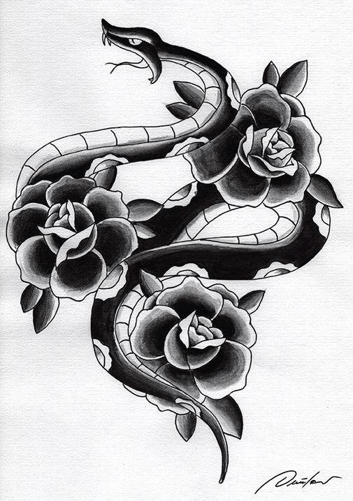 Best 25 Traditional Snake Tattoo Ideas On Pinterest Ideas And Designs