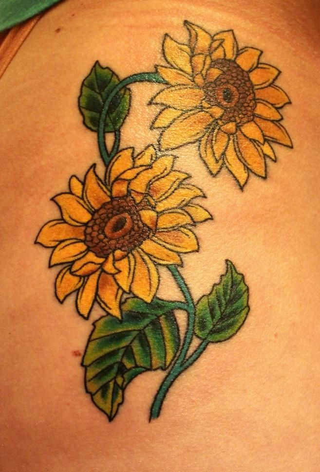 112 Best Tattoos Images On Pinterest Sunflower Tattoos Ideas And Designs