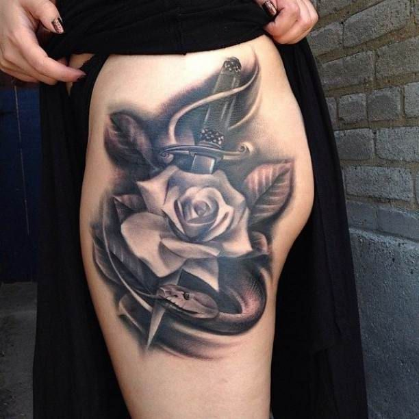 Best 25 White Rose Tattoos Ideas On Pinterest Black And Ideas And Designs