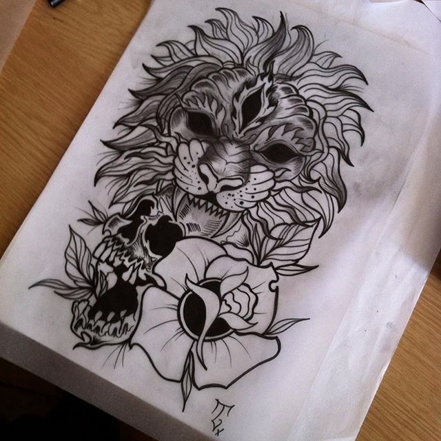 35 Best Lion And Flower Tattoo Designs Images On Pinterest Ideas And Designs