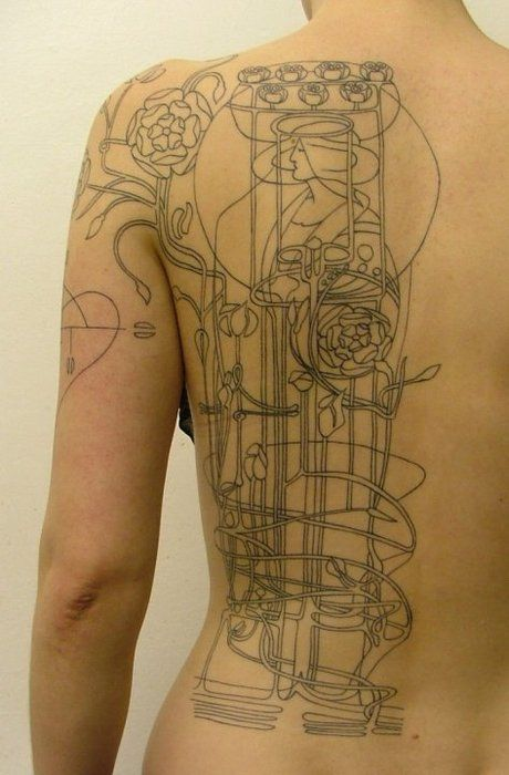 24 Best Art Nouveau Tattoo Images On Pinterest Cool Ideas And Designs