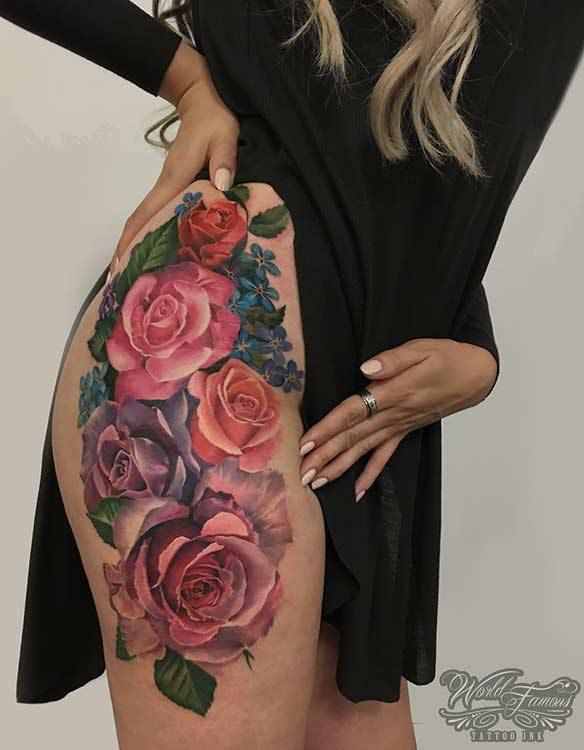 15 Bad *Ss Thigh Tattoo Ideas For Women Tattoo Flower Ideas And Designs