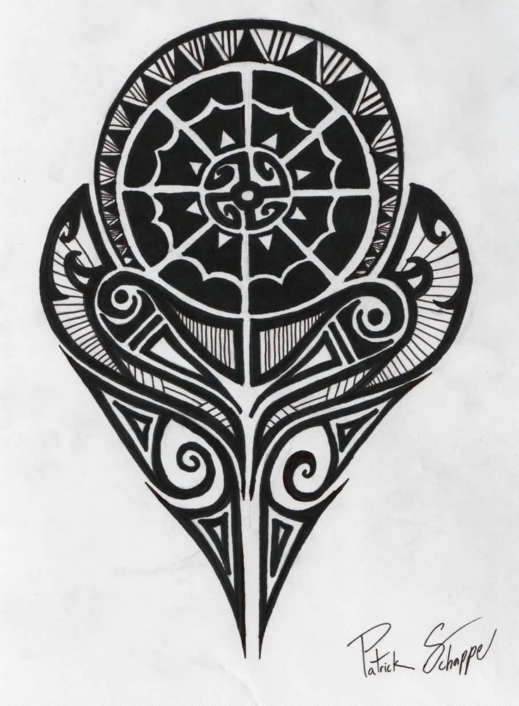 Black Polynesian Strength Tattoo Design Haka Ideas And Designs
