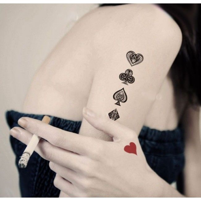 53 Best Poker Tattoos Images On Pinterest Poker Tattoos Ideas And Designs