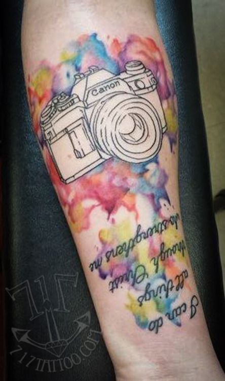 Watercolor Style Tattoo By Joe 717 Tattoo In Harrisburg Ideas And Designs