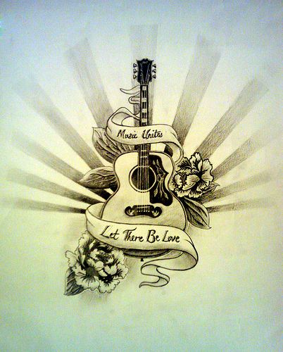 Best 25 Guitar Tattoo Ideas On Pinterest Guitar Drawing Ideas And Designs
