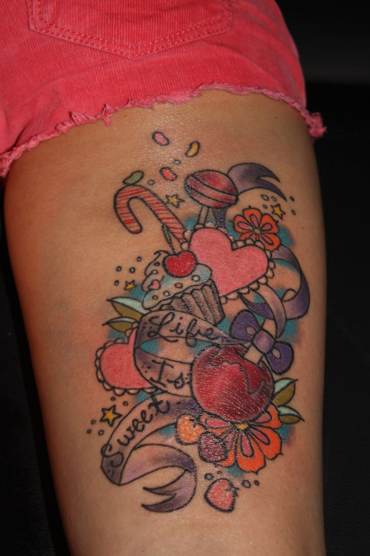 39 Best Candy Apple Tattoo Images On Pinterest Apple Ideas And Designs