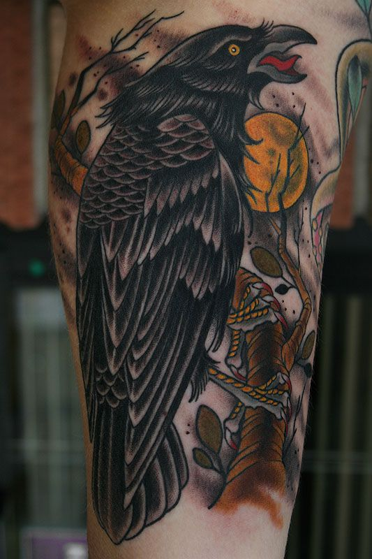 Best 25 Black Crow Tattoos Ideas On Pinterest Color Ideas And Designs