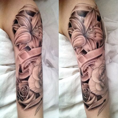 1 4 Sleeve Tattoo Girl Hibiscus Google Search My Style Ideas And Designs Original 1024 x 768