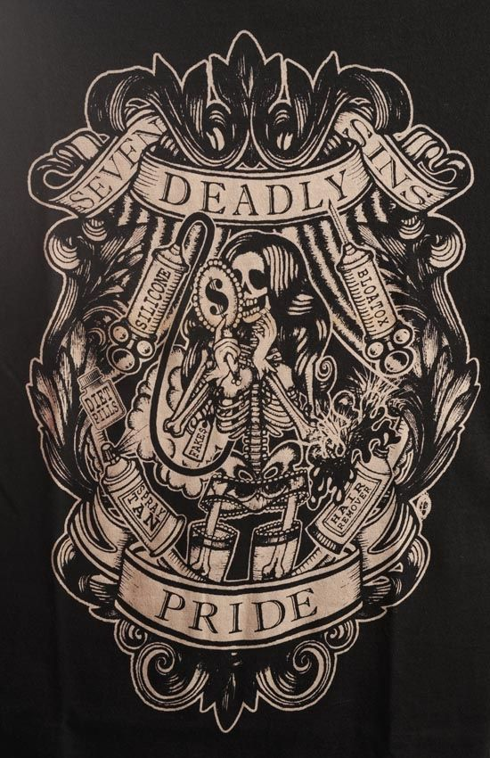 Tattoo Like Design Interesting Take The Deadly Sin Of Ideas And Designs
