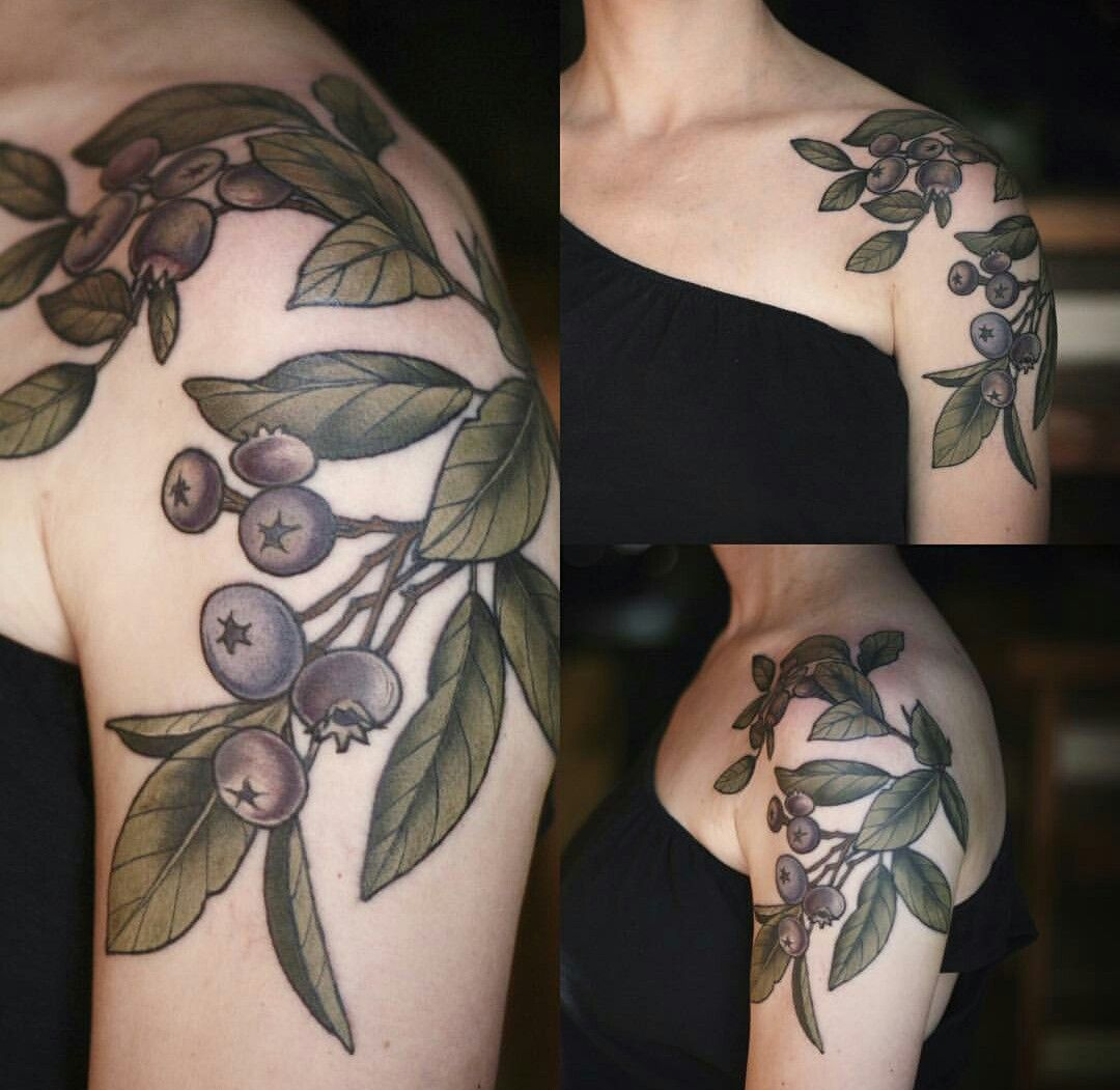 Blueberries By Alice Carrier Wonderland Tattoos Portland Ideas And Designs