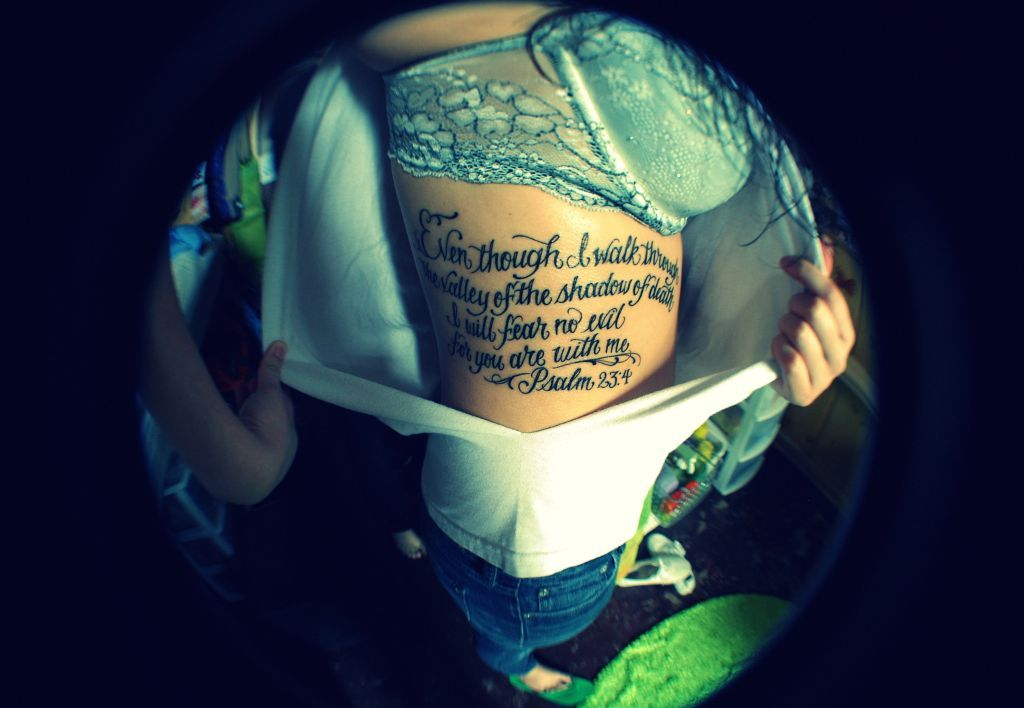 Psalm 23 4 My Tattoo Ideas And Designs