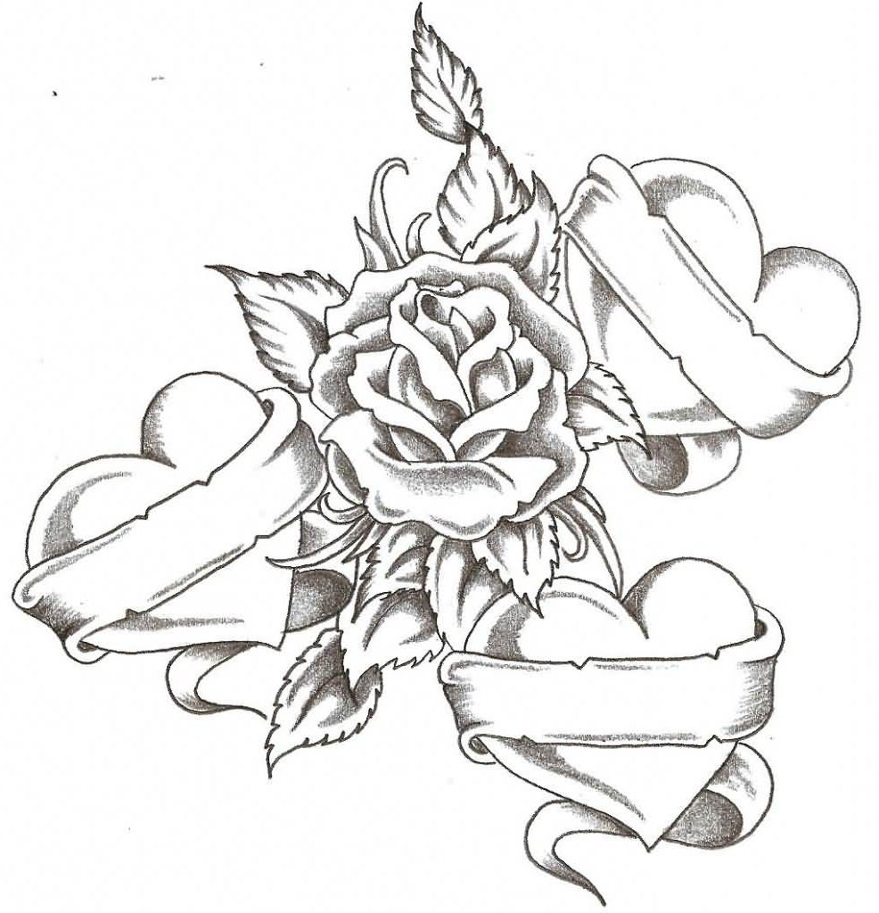 Tattoo Designs Roses And Hearts Tattoo Designs Of Roses Ideas And Designs