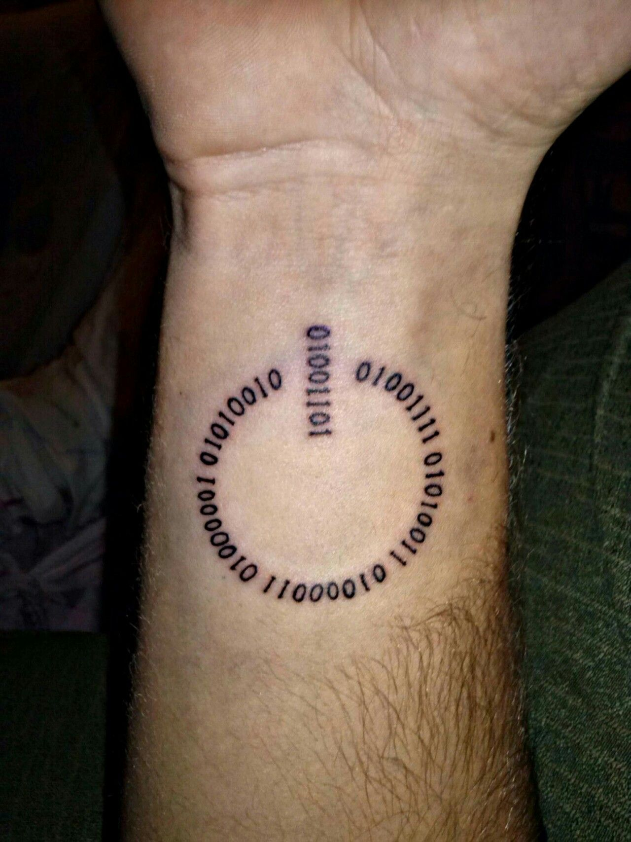 On Off Switch With Binary Code Tattoos Nerdy Tattoos Ideas And Designs