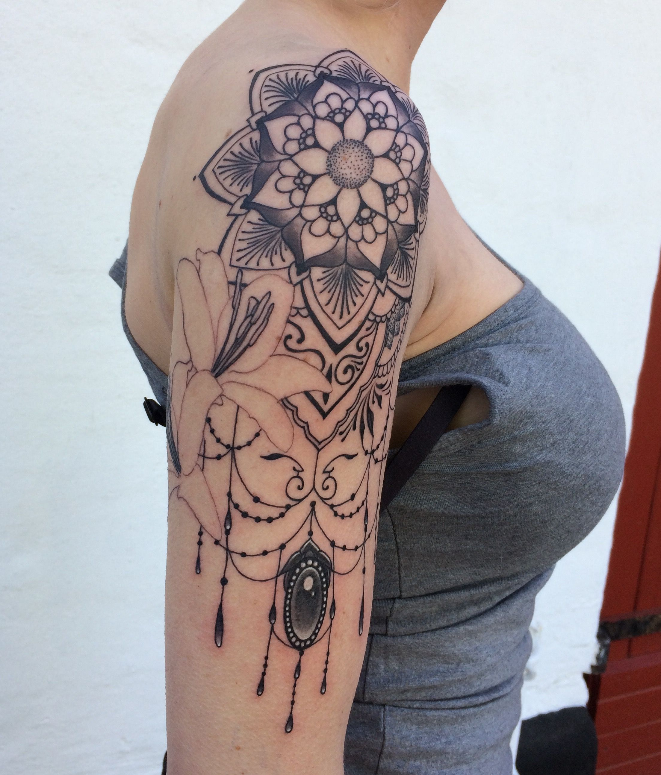 Mandala Lily Jewelry Tattoo Not Finished Going To Be A Ideas And Designs