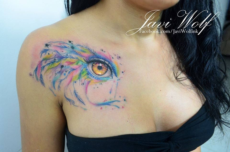 Watercolor Eye Tattoo Tattooed By Javi Wolf I See Ideas And Designs
