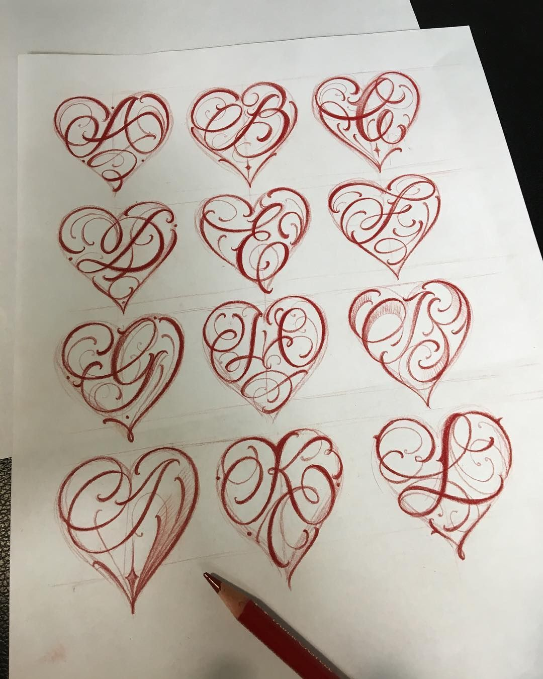 Image Result For Letter A With Heart Tattoo Tattoo Ideas And Designs