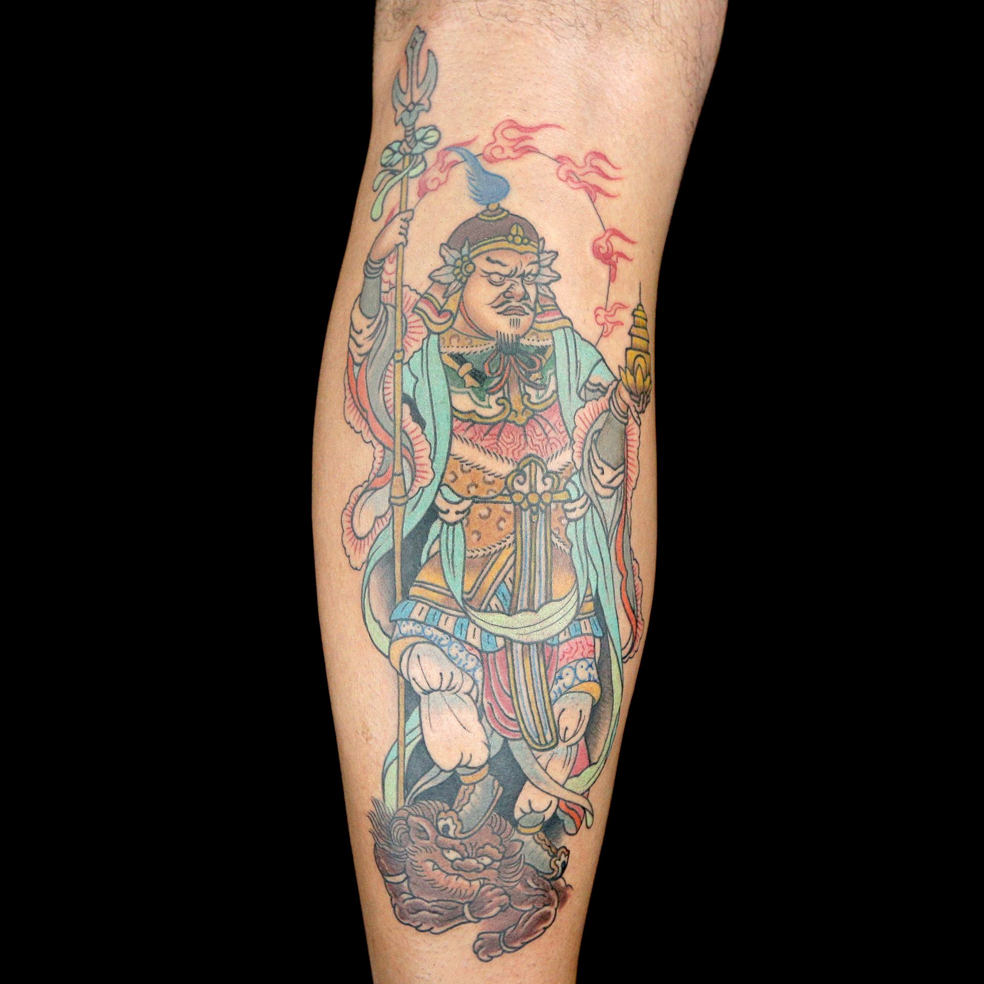 Asian Deity Tattoo By Old Town Ink Dj Tambe Bubba Irwin Ideas And Designs