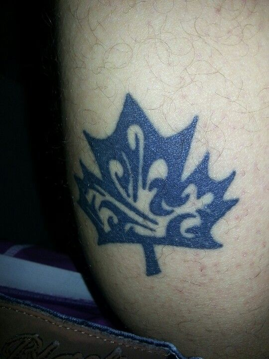 Canadian Maple Leaf Tattoo Its On The Back Of My Calf Ideas And Designs