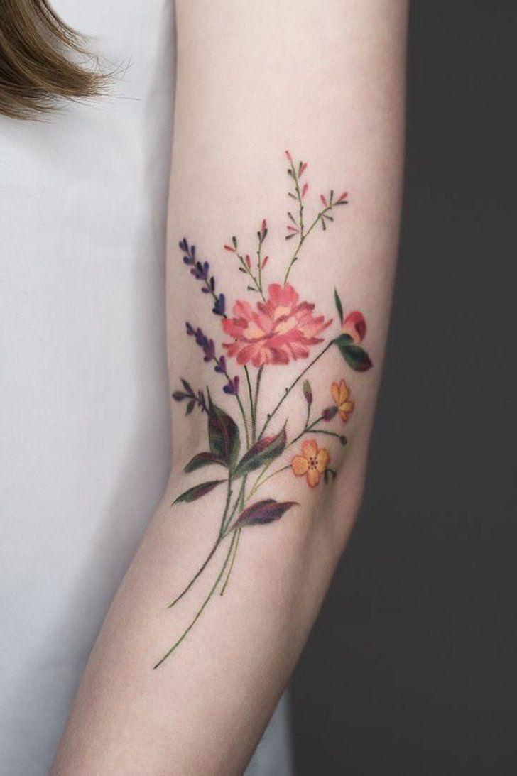 28 Gorgeous Wildflower Tattoos For Free Spirits Tattoos Ideas And Designs