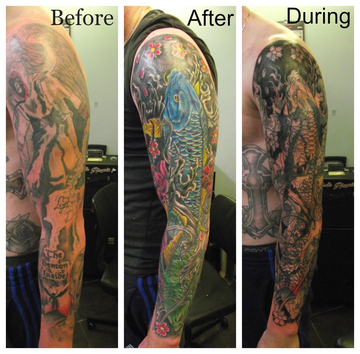 Full Sleeve Cover Up By Paul Butler Birmingham Tattoo Ideas And Designs