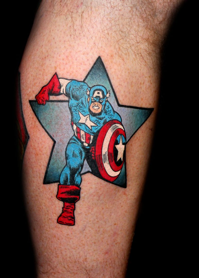 Captain America Tattoo By Chris 51 Of Area 51 Tattoo In Ideas And Designs
