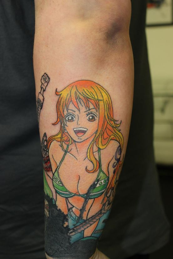 Nami Has Been Added To This One Piece Sleeve Tattoo Ideas And Designs