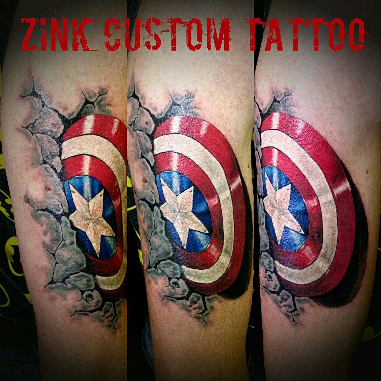 Captain America Shield Cover Up Inked Up Captain Ideas And Designs