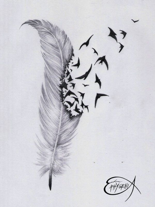 Black Phoenix Feather Tattoo Amazing Feather Birds Ideas And Designs