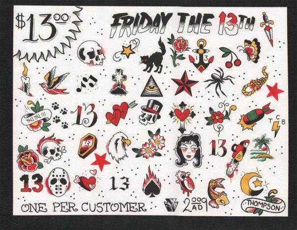 Friday The 13Th Tattoo Designs Tats Friday The 13Th Ideas And Designs
