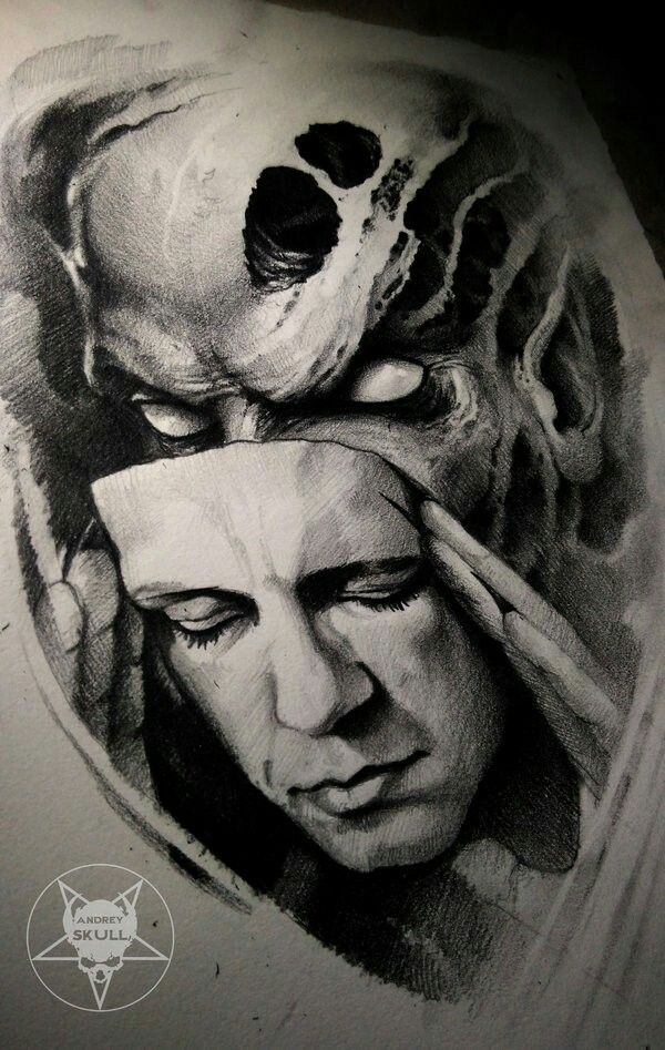 Two Faces Illustration Tattoos Tattoo Designs Ideas And Designs