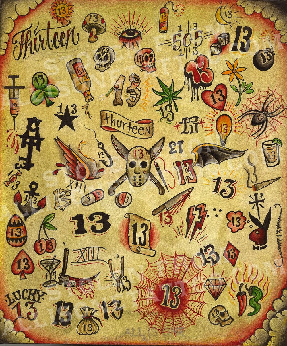 Pin By Nick Ottinger On Flash Tatto Future 13 Tattoos Ideas And Designs