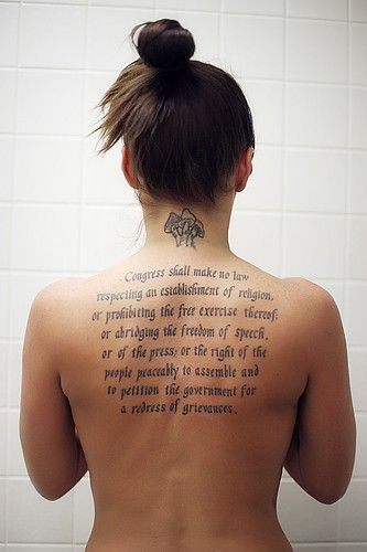 First Amendment Tattoo Interesting I Like The Ideas And Designs