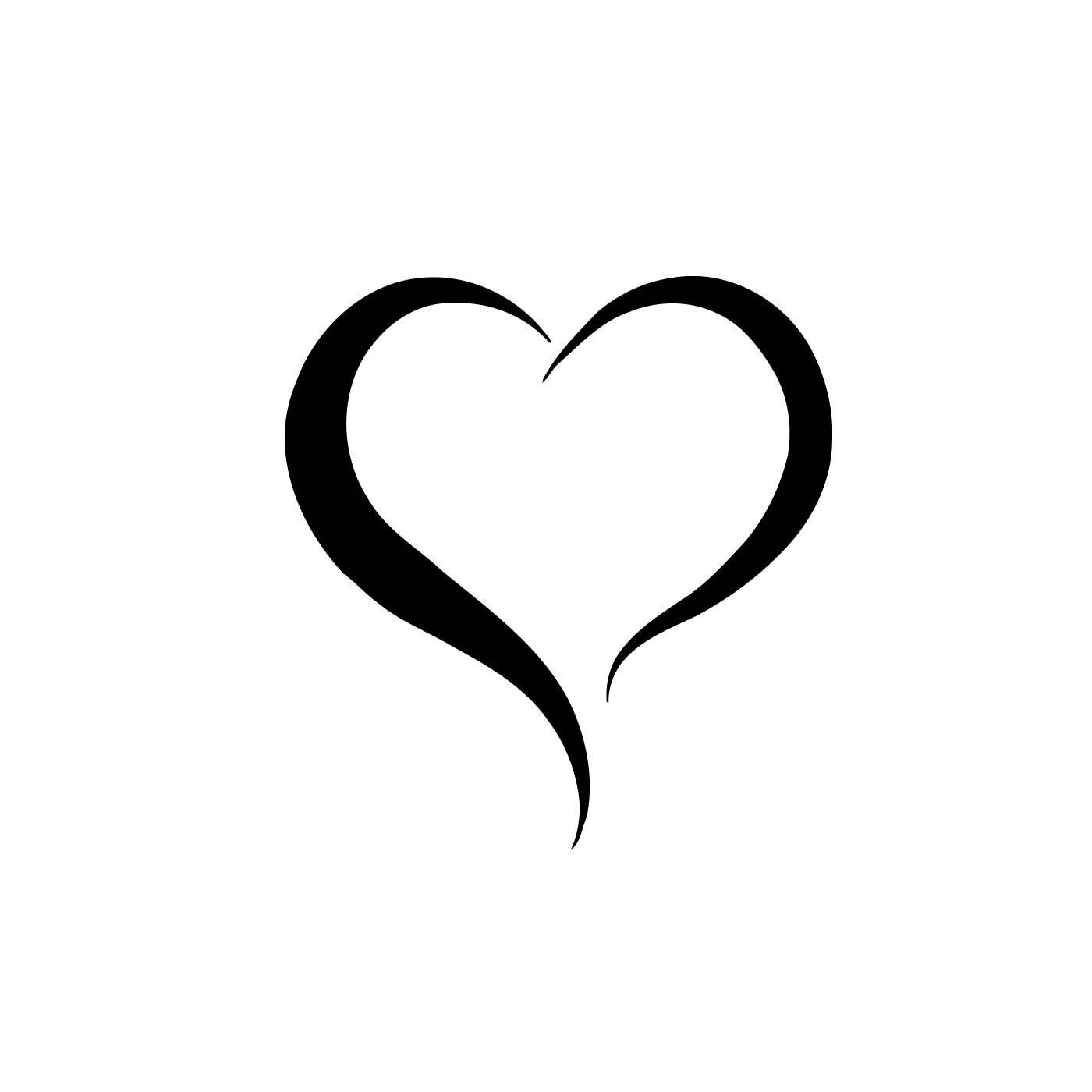 Two Lines Heart Vinyl Wall Art Products Tatuajes Ideas And Designs