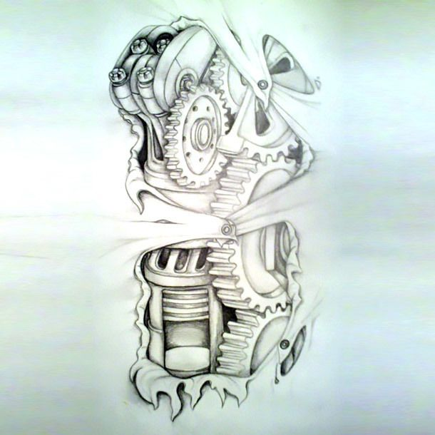 Tattoo Designs Cool Amazing Biomechanical Tattoo Sketch Ideas And Designs