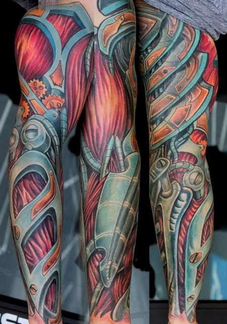 Biomechanical Color Tattoos Google Search Biomedical Ideas And Designs